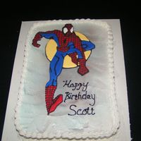 Spiderman Birthday Cake This was a cake I did in 2003 for s friend of mine for his 34th birthday. He was a huge fan of Spiderman and his partner requested that I...