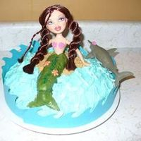 Mermaid Cake Mermaid cake with a non-barbie doll