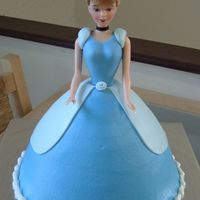 Cinderella #2 wondermold & doll pick - marble cake, dark blue is BC & light blue is MMF