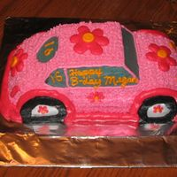 Retro Ride Cake   This is a chocolate cake with buttercream (trans fat included ;-) This cake is for a co-worker's daughter.
