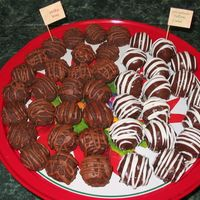 More Cake Balls  Instead of making cake for my family Christmas gathering, I made several flavors of cake ball. We had carrot cake drizzled with white...