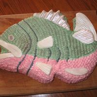 Fish Birthday Cake  This is my first time using a plastic pan. I was a little concerned, but it worked fine. The fins, eyes and mouth are white chocolate. The...