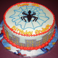 Spider Man   Generic Spider Man Cake....this was fun to make. :)