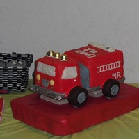 Firetruck Cake This was inspired by a cake by ColeAlayne. The grin on my 2 year old nephew's face when he saw he very own firetuck cake was priceless...