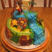 Go Diego Go  Using several cakes on here as inspiration...as well as techniques outlined in The Whimsical Bakehouse, I created this cake for my son&#039...