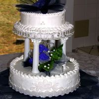 Practice Wedding Cake My first tiered cake. I've been asked to make the cake for my nieces wedding next spring. It's a coconut white cake and white...