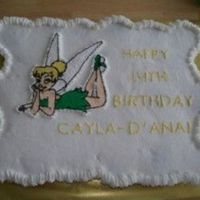 Tinkerbell Cupcake Cake   All done in buttercreme. Tink is a FBCT.
