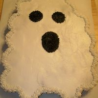 Ghost Cupcake Cake   Done for my daughter's dance studio party. All done in B/C.