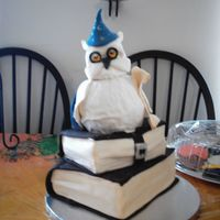 Harry Potter Wizard Cake For a 5th birthday, based on a design by Debbie Brown. Surprisingly easy but required alot of fondant