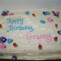 Granny's Bday Cake BC drop flowers