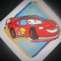 Cars Birthday Cake  I won't be making this cake again any time soon. Way too many colors, way too tedious! It took me literally all day to get this thing...