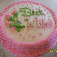 Best Wishes. Practice cake of the basket weave.