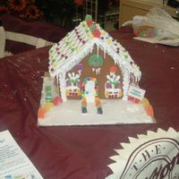 Gingerbread House I did this at a Micheals class preview. Wilton GB house. My RI was too thin.