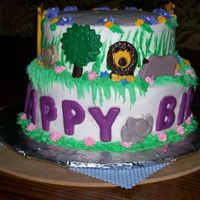 Zoo Cake This is my version of one done previously by a very talented decorator-I can't do fondant-I can't sculpt anything!! I made my...