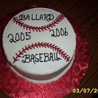 "School Baseball Raffle Cake Made this for DH's HR person-who called me at work at 11:30 to do for tomorrow-not bad for a ""quickie"". There will be a..."