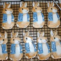 "Bunny Cookies  These are a few cookies I made for a baby shower with a ""Peter Rabbit"" theme. I used Penny's recipe for the cookie and..."