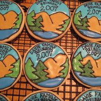 Family Reunion Cookies I made these for my family's reunion this summer. The most challenging part was the lettering!