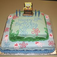 "Spongebob Cake This was my first attempt at a ""real"" cake and my first time making and using MMF."