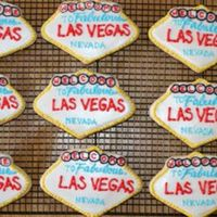 """welcome To Las Vegas"" Cookies  This is my first paid order. I'm happy they turned out ok. They're made with Penny's cookie recipe and Antonia74's..."