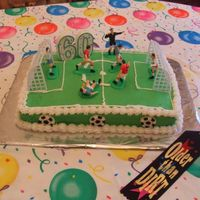 Soccer Cake - Skip This was for my Uncle's 60th Birthday, he coaches soccer.[Buttercream]