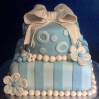 Baby Shower   All fondant with buttercream.