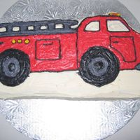 A Firetruck For My Nephew My nephew loves firetrucks and anything fireman, so this was his birthday cake. BC iced without tips as I didn't have any at the time...