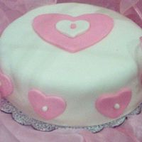 Practice, Heart Cake With Mmf.  This is my first attempt at making a cake with MMF or fondant at all. I'm very pleased with the results. The cake itself is chocolate...