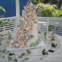 Ochids Wedding Cake