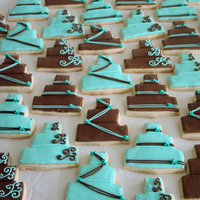 Bridal Shower Cake Cookies NFSC with Antonia icing :)