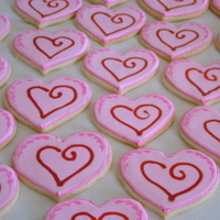 Valentine's Day Heart Cookies NFSC with Antonia icing :)