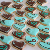 Bridal Shower Heart Cookies NFSC with Antonia icing :)