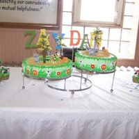 Jungle_Animals_Cake.jpg This cake I made for a friend, one of the cakes is almond and the other is butter flavor and the frosting is butter cream. the cupcakes are...