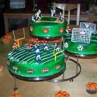3 Sports sports cake for a baby shower...