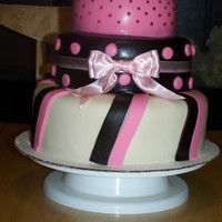 Pink Brown And Ivory ANOTHER ONE OF MY PRACTICE CAKES. TOOK IT TO WORK AND THEY LOVED IT...