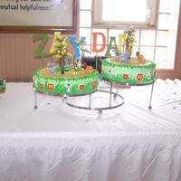 Zoo Animal Cake THIS CAKE WAS FOR A BABY SHOWER...