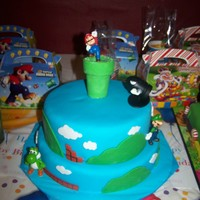 Super Mario Brother's I made this cake for my son's 7th birthday...