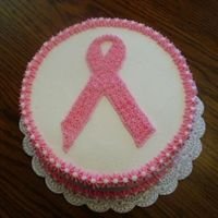 Race For The Cure   This was a double layer 8 inch cake. All bc icing.