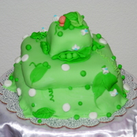 "Pea In A Pod My 1st baby shower cake. Its a ""pea in a pod"" !. Thanks for watching and would really appreciate your feedback!"