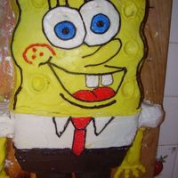 Spongebob 1 This was the 'dump' cake - my practice before the first real order