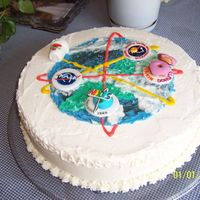 Satellite Themed Retirement Cake