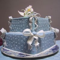 Wedgewood Blue With Bows
