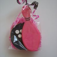 Bowling Ball And Pin made for a little girls bowling party!!