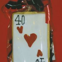 Playing Card THESE WERE MADE TO ACCOMPANY A CASINO THEMED CAKE.