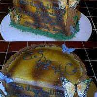 Tree Trunk Groom's Cake This was the groom's cake I did for my SIL's wedding. But could also be for a shower I suppose. I was trying to copy a cake I saw...