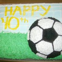 Soccer Goal Cake my writing isn't very good but i am working on it