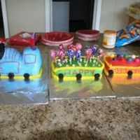 Karsons_First_Birthday_Cake.jpg This is my son's First Birthday cake. The hardest one I have done yet.