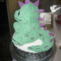 Dinosaur Cake From the Wilton website. I was thrilled when I found out how many things you an do with the 3D bear pan!