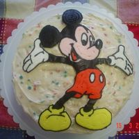 Mickey Mouse Fbct Birthday Cake I made this for my son's 3rd birthday. I got lazy and used canned icing on the cake itself, but hey, he's only 3 and loves it all...