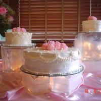Wedding Cake This is my first wedding cake. It's a variation of the WASC cake with the White Chocolate Raspberry Creamer with Buttercream Dream...