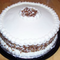 Irish Cream Cake Irish cream cake. Recipe I found online.